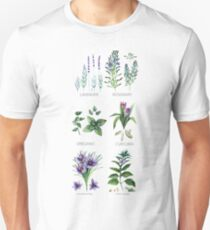 Watercolor botanical collection of herbs and spices T-Shirt