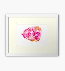 Rosy gold Framed Print