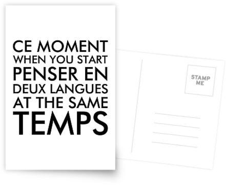 Denken in Französisch und Englisch von ironydesigns
