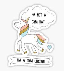I'm a gym unicorn Sticker