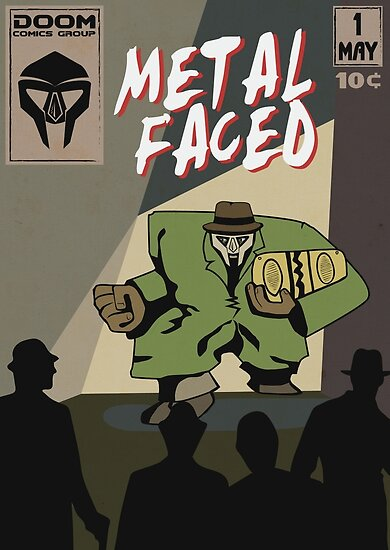Metal Faced - Comic Cover von Ben Rhys-Lewis