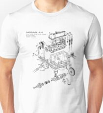 Nissan L4 Exploded View Unisex T-Shirt