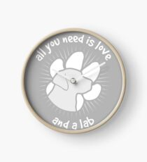 All you need is love and a LAB - Grey Clock