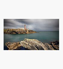 Eilean Glas Lighthouse, Western Isles. Photographic Print