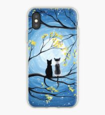 Cats Full Moon  iPhone Case