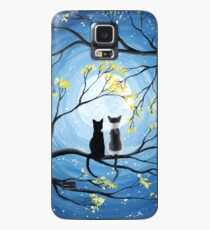 Cats Full Moon  Case/Skin for Samsung Galaxy