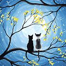Cats Full Moon  by ironydesigns