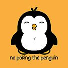 No Poking The Penguin Cartoon by ironydesigns