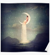 Moon River Lady Poster