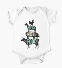 Freunde nicht essen - vegane vegetarische Tierliebhaber T-Shirt - Vintage Distressed Baby Body Kurzarm