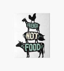 Friends Not Food - Vegan Vegetarian Animal Lovers T-Shirt - Vintage Distressed Art Board