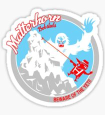 Matterhorn Bobsleds (red, blue, white) Sticker