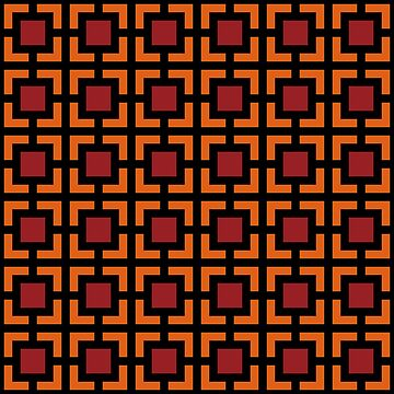 Geometric Pattern: Square Bracket: Red/Orange by redwolfoz