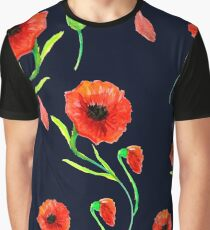 Red Poppies Field Graphic T-Shirt