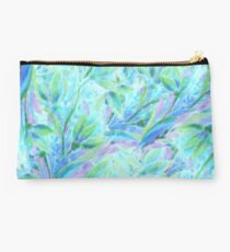 Cold abstract floral elements. Flaral pattern Studio Pouch