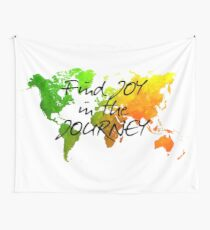 world map 120 find joy in the journey #map #worldmap Wall Tapestry