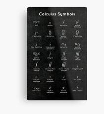 Calculus Symbols Metal Print