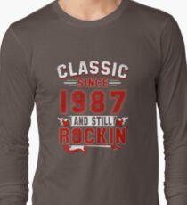 Classic Since 1987 Vintage 30th Birthday Pun Gift T-Shirt