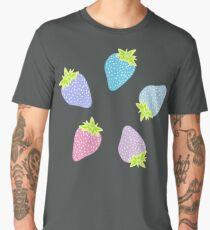 Pastel Strawberries Pattern Men's Premium T-Shirt