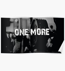 One More Rep - Barbell Inspiration Poster