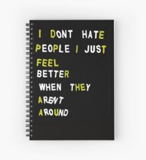 Rude Quotes Spiral Notebooks Redbubble