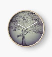 Pen&Ink Tree Clock