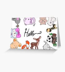 Cute Animal Greeting Card Design Greeting Card