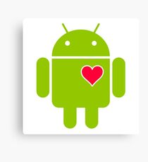 Android Robot Love Canvas Print