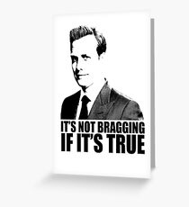 Harvey specter greeting cards redbubble suits harvey specter its not bragging tshirt greeting card colourmoves