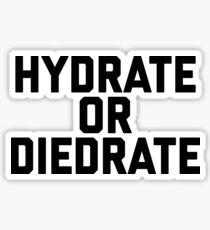 HYDRATE OR DIEDRATE. Sticker