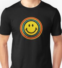 Smiley Face Patch  T-Shirt