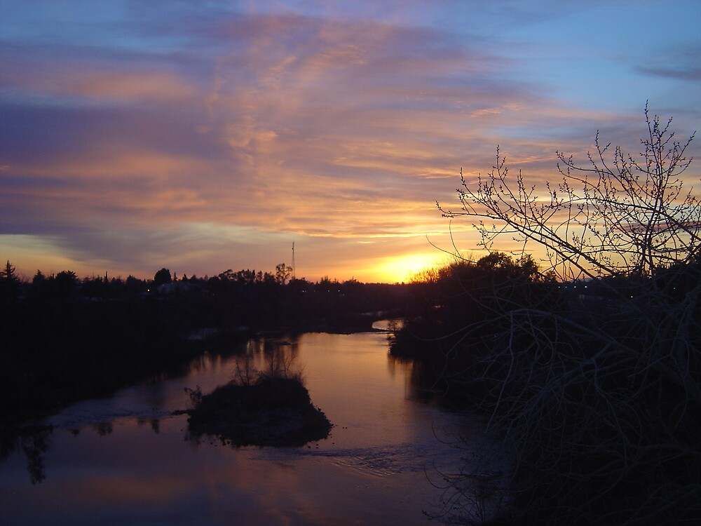 FEATHER RIVER SUNSET by Jerry Stewart