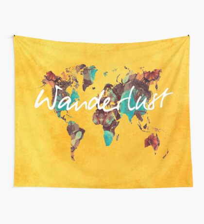 world map 123 wanderlust #wanderlust #map Wall Tapestry
