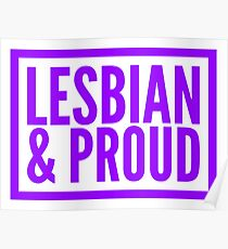 Lesbian and Proud Poster