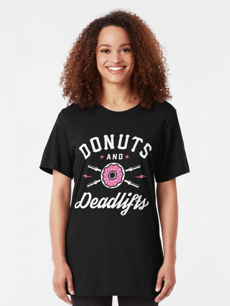 Alternative Ansicht von Donuts und Deadlifts Slim Fit T-Shirt