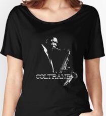 Trane - John Coltrane - b&w plain design Women's Relaxed Fit T-Shirt