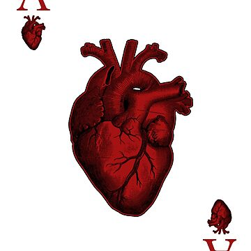 Ace of human Heart,Playing Cards by jamescubitt
