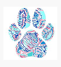 Lilly Paw Print Photographic Print