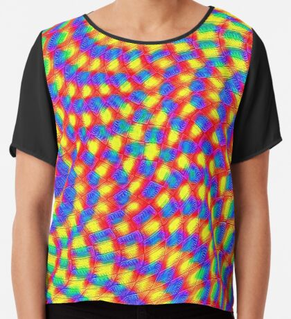 Color Waves Chiffon Top
