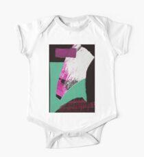 abstrakte Papiercollage Baby Body Kurzarm