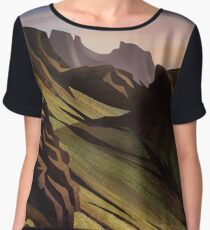 Landscape Digital Painting Women's Chiffon Top
