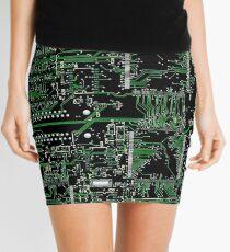 Circuit Board Green Mini Skirt