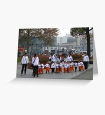 Chinese school children Greeting Card