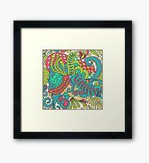 Abstract hallucinogen Framed Print