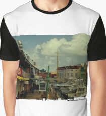 The Waterfront, Careenage , Bridgetown, Barbados, West Indies Graphic T-Shirt