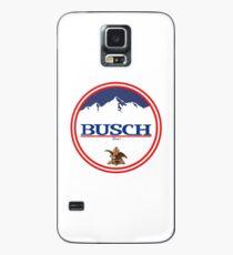 Buschlicht, Buschlicht, Busch, Bier, Getränk, Berg, Kneipe, Logo, Symbol. Hülle & Klebefolie für Samsung Galaxy