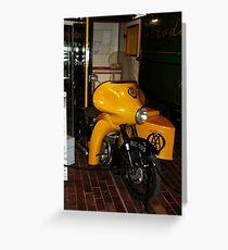 1950s AA Motorbike and Sidecar Greeting Card