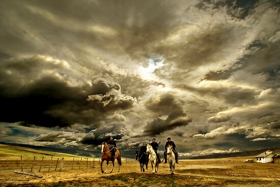 Gauchos in Patagonia by Charles McKean