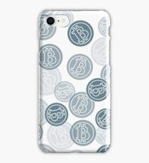 Seamless pattern with bitcoins. Finance and virtual currency. iPhone Case/Skin