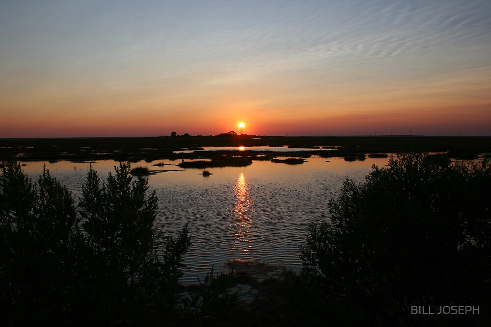 sunset on Greate bay (NJ) by BILL JOSEPH